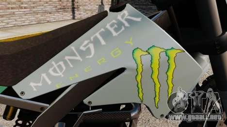 Sanchez Monster Energy para GTA 4 visión correcta