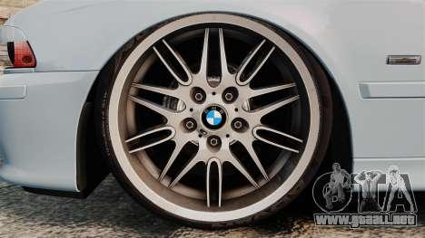 BMW M5 E39 2003 para GTA 4 vista hacia atrás