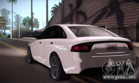 GTA V Tailgater para GTA San Andreas vista hacia atrás