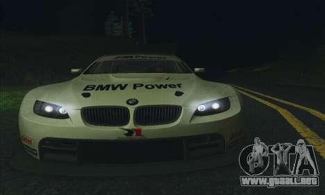 BMW M3 GT2 E92 ALMS para vista lateral GTA San Andreas