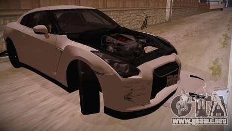 Nissan GT-R SpecV Ultimate Edition para la visión correcta GTA San Andreas