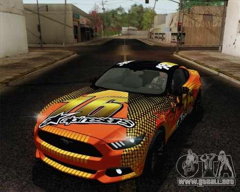 Ford Mustang GT 2015 para las ruedas de GTA San Andreas