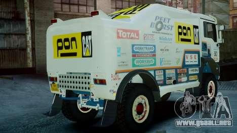 MAN TGA GINAF Dakar Race Truck para GTA 4 left