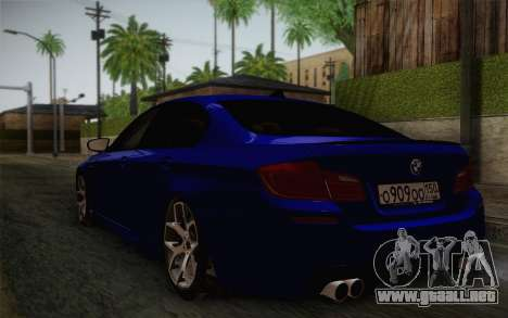 BMW M5 F10 v2 para GTA San Andreas left