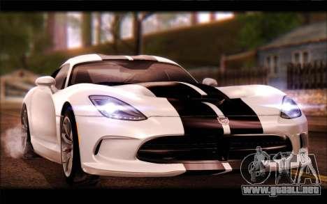 SRT Viper Autovista para vista lateral GTA San Andreas