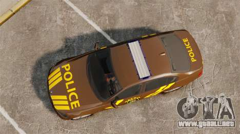 BMW 350i Indonesia Police v2 [ELS] para GTA 4 visión correcta