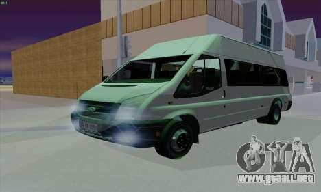 Ford Transit Jumgo para la vista superior GTA San Andreas