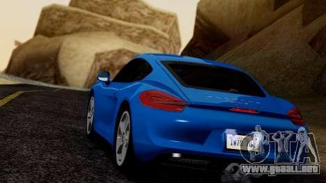 Porsche Cayman S 2014 para la visión correcta GTA San Andreas