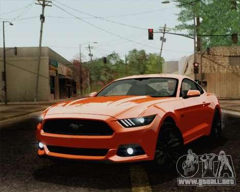 Ford Mustang GT 2015 para GTA San Andreas interior