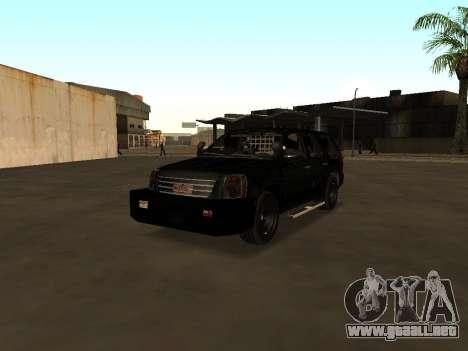 GMC Yukon ATTF para visión interna GTA San Andreas