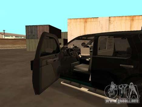 GMC Yukon ATTF para la vista superior GTA San Andreas