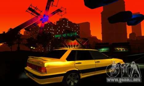 VAZ 2115 luz Tuning para vista lateral GTA San Andreas