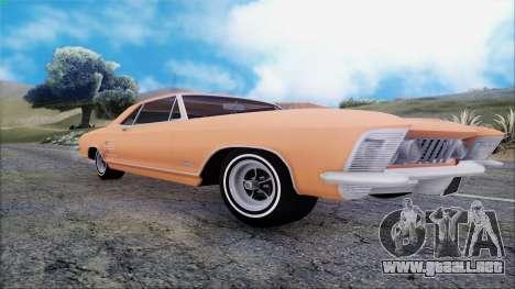 Buick Riviera 1963 para GTA San Andreas vista hacia atrás
