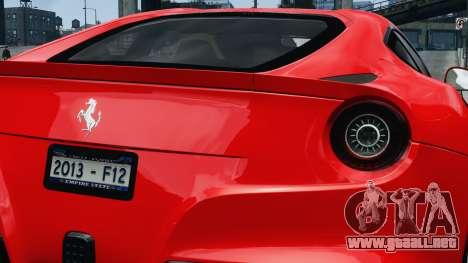 Ferrari F12 Berlinetta 2013 Modified Edition EPM para GTA 4 visión correcta