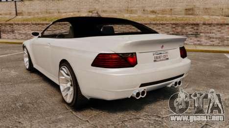 GTA V Zion XS Cabrio [Update] para GTA 4 Vista posterior izquierda