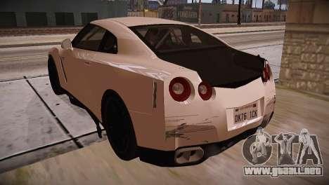 Nissan GT-R SpecV Ultimate Edition para GTA San Andreas vista hacia atrás