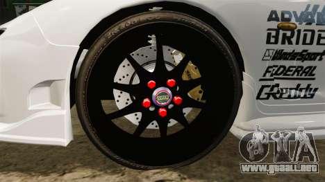 Mazda RX-7 para GTA 4 vista hacia atrás