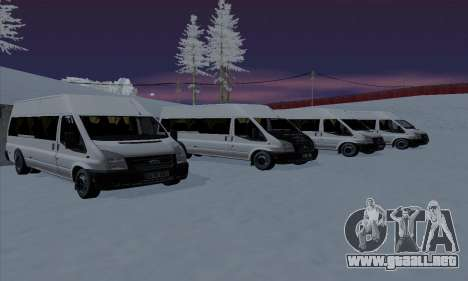 Ford Transit Jumgo para el motor de GTA San Andreas