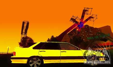 VAZ 2115 luz Tuning para GTA San Andreas vista hacia atrás