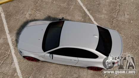 BMW 1 M 2011 para GTA 4 visión correcta