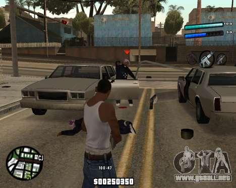 C-HUD by Tom para GTA San Andreas segunda pantalla
