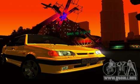 VAZ 2115 luz Tuning para visión interna GTA San Andreas
