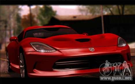 SRT Viper Autovista para GTA San Andreas vista hacia atrás