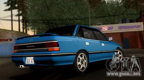 Subaru Legacy 2.0 RS (BC) 1989 para GTA San Andreas left