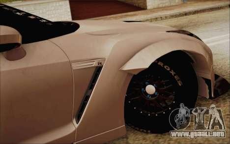 Nissan GT-R Liberty Walk para GTA San Andreas vista posterior izquierda