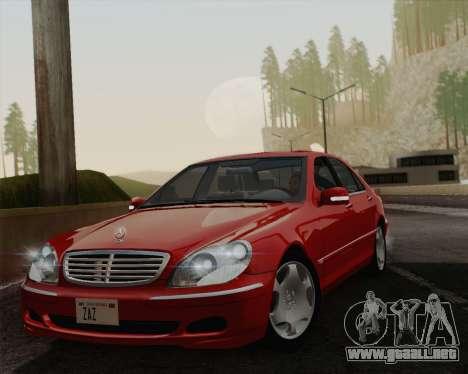 Mercedes-Benz S600 Biturbo 2003 para GTA San Andreas vista hacia atrás