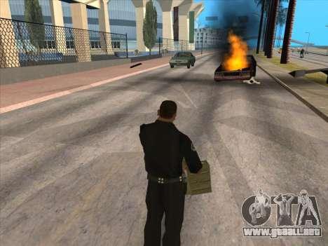 TVNS para GTA San Andreas octavo de pantalla