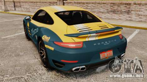 Porsche 911 Turbo 2014 [EPM] Alpinestars para GTA 4 Vista posterior izquierda