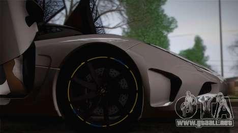Koenigsegg Agera para vista lateral GTA San Andreas