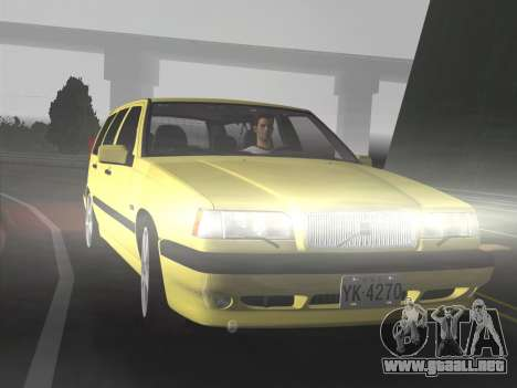 Volvo 850 R Estate para GTA Vice City vista lateral izquierdo