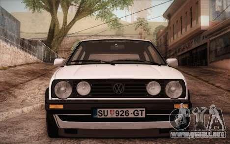 Volkswagen Golf Mk2 GTI para GTA San Andreas vista posterior izquierda