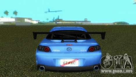 Mazda RX8 Type 1 para GTA Vice City vista lateral