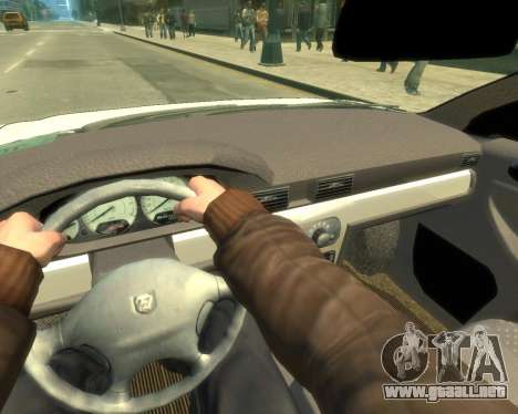 Sajber Volga GAZ para GTA 4 vista hacia atrás