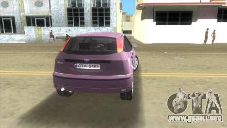 Ford Focus SVT para GTA Vice City vista lateral izquierdo