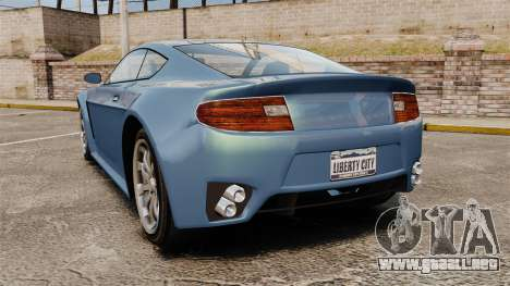 GTA V Rapid GT para GTA 4 Vista posterior izquierda