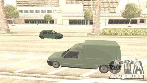 Fiat Fiorino Fire 07 para GTA San Andreas vista hacia atrás
