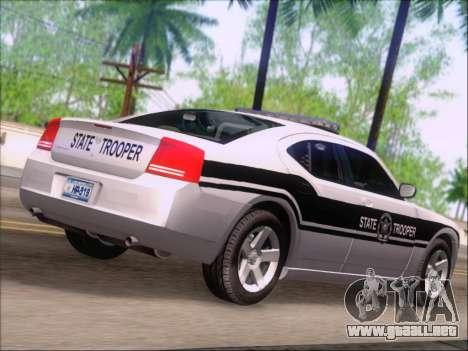 Dodge Charger San Andreas State Trooper para GTA San Andreas vista hacia atrás