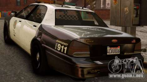GTA V Police Cruiser para GTA 4 left