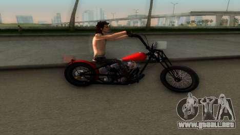 Harley Davidson Shovelhead para GTA Vice City vista lateral izquierdo