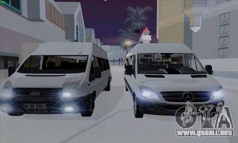 Ford Transit Jumgo para vista lateral GTA San Andreas