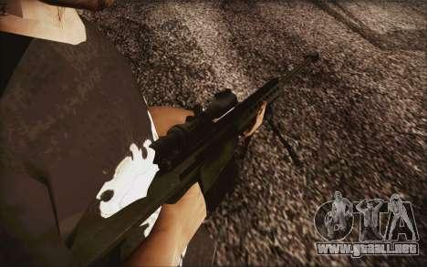 Barrett M82 para GTA San Andreas segunda pantalla