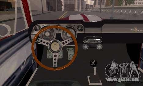Shelby GT500 E v2.0 para visión interna GTA San Andreas