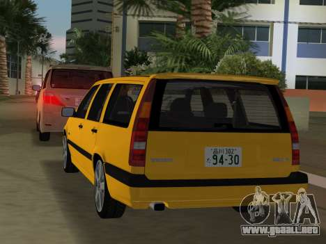 Volvo 850 R Estate para GTA Vice City vista posterior