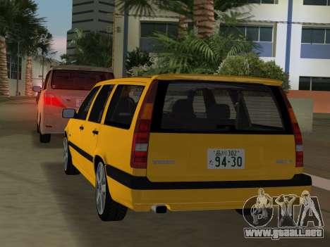 Volvo 850 R Estate para GTA Vice City vista posterior