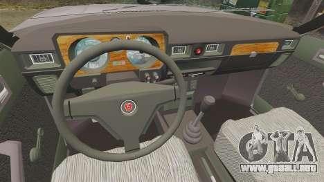 Gaz-31029 para GTA 4 vista hacia atrás