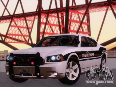 Dodge Charger San Andreas State Trooper para GTA San Andreas left